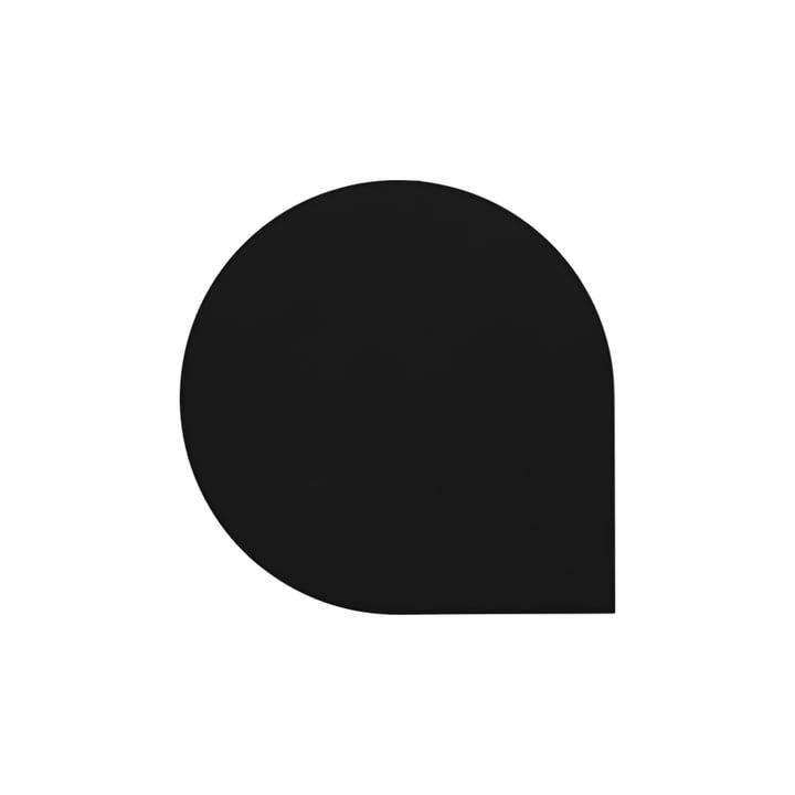 Der Stilla Glasuntersetzer von AYTM, L 10 x W 10 cm, schwarz (4er-Set)
