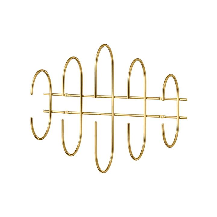 Die Moveo Wandgarderobe von AYTM, L 51 cm, gold