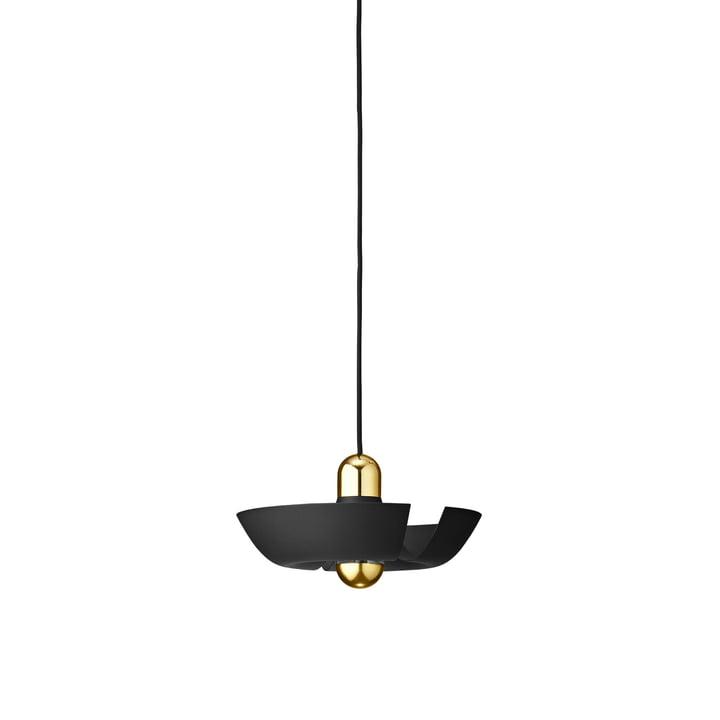 Die Cycnus Pendelleuchte von AYTM, Ø 30 cm, schwarz / gold