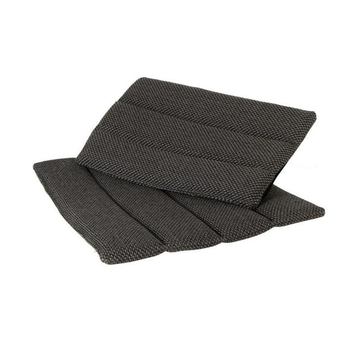 Die Sitz- und Rückenkissen für Flip Klappstuhl Outdoor von Cane-line, dunkelgrau