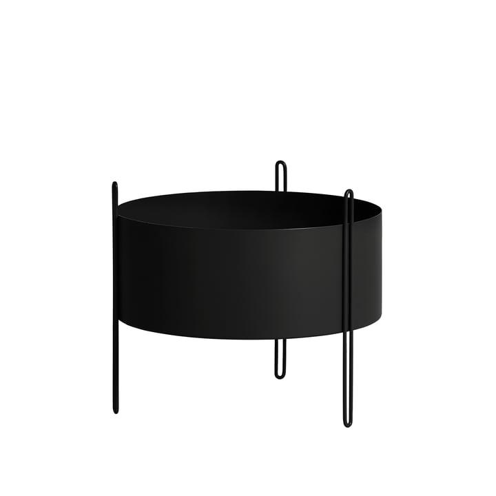 Pidestall Pflanzenbehälter M von Woud in schwarz