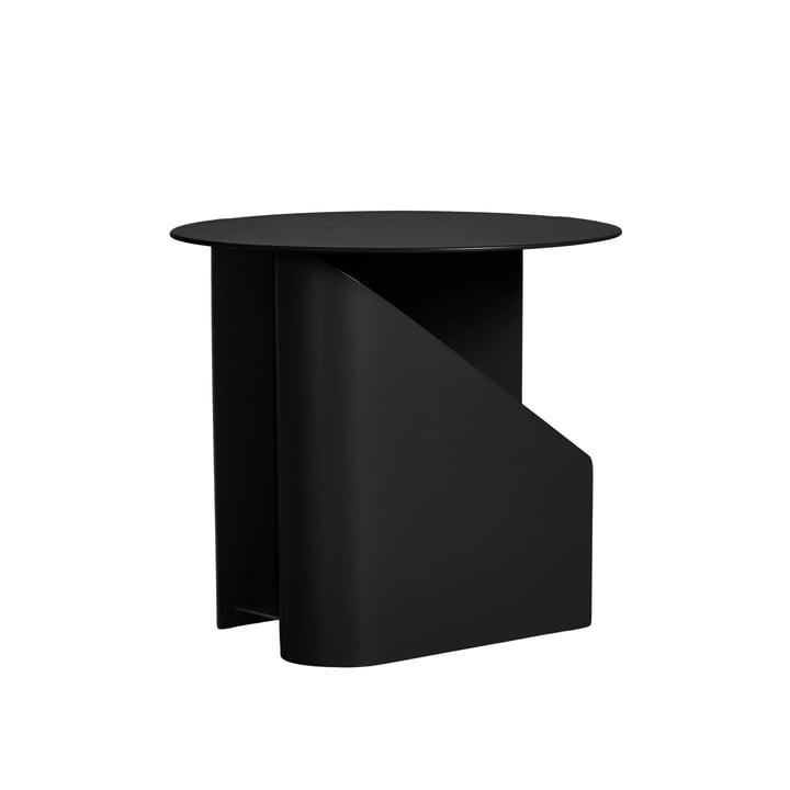 Sentrum Beistelltisch, Ø 40 x H 36 cm von Woud in schwarz