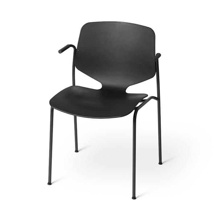 Nova Sea Armlehnstuhl, schwarz von Mater