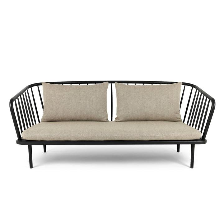 Mollis Sofa, schwarz / braungrau von Mater