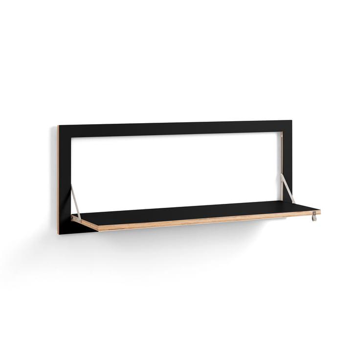 Fläpps Regal 100 x 40 cm mit einem Regalboden von Ambivalenz in schwarz