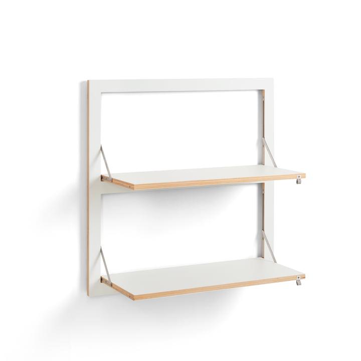 Fläpps Regal 80 x 80 cm mit 2 Regalböden von Ambivalenz in weiß