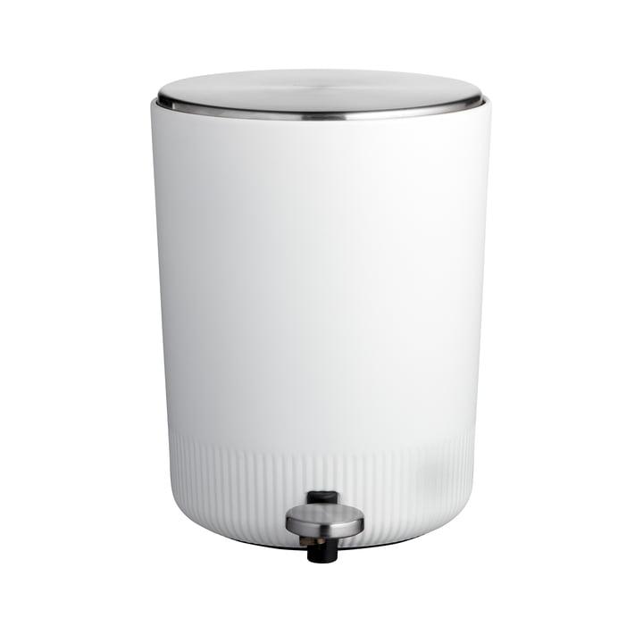 Der Plissé Pedaleimer von Södahl, 5 L, weiß