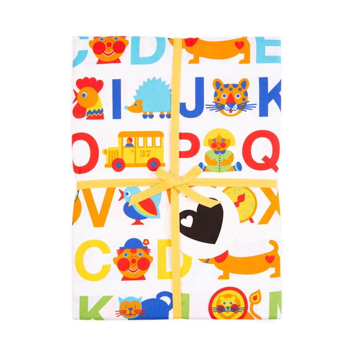 Die ABC Regenbogen Bettwäsche von byGraziela aus Baumwoll-Satin