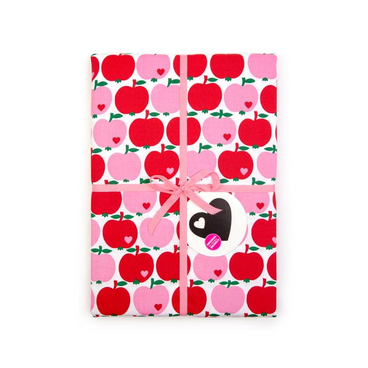 byGraziela - Kinderbettwäsche Apfel, rot / pink
