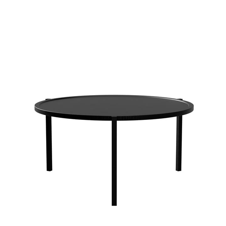 Der Couchtisch von Nichba Design, Ø 90 cm, schwarz