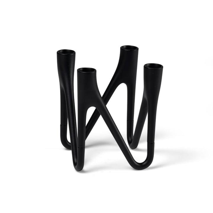 Roots Kerzenhalter von Morsø für 4 Kerzen in schwarz