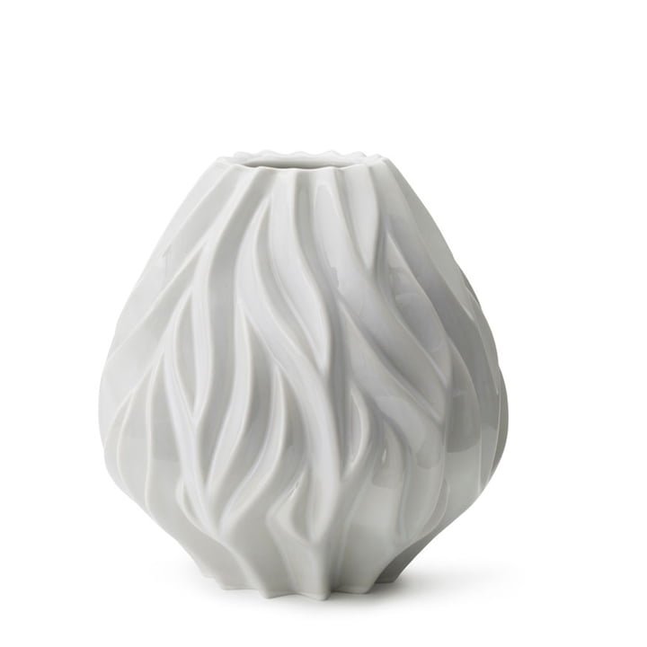 Flame Vase von Morsø H 23 cm in weiß