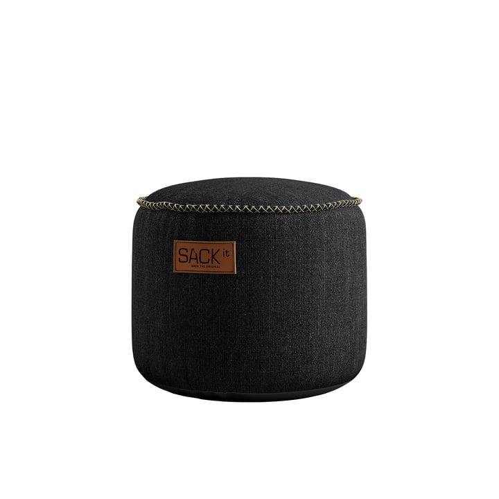 Der RETRO it Cobana Junior Drum Outdoor Pouf von SACK it, schwarz