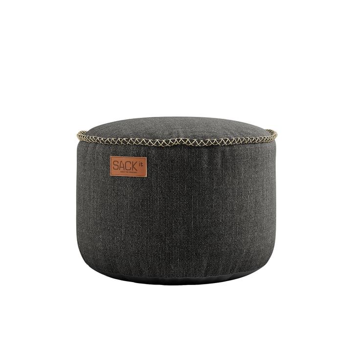 Der RETRO it Cobana Drum Outdoor Pouf von SACK it, grau