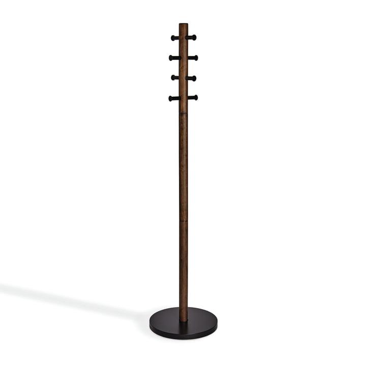 Pillar Garderobenständer von Umbra in schwarz / walnuss