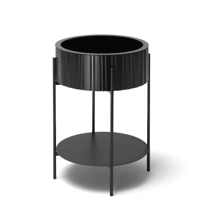 TWIST Box Beistelltisch mit Aufbewahrung von Müller Möbelfabrikation in tiefschwarz