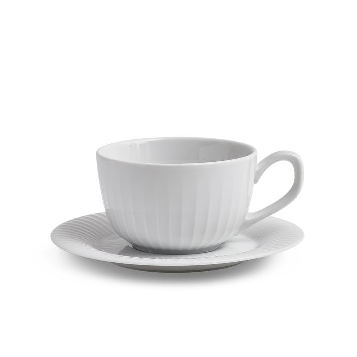 Hammershøi Kaffeetasse mit Untertasse 25 cl von Kähler Design in weiß