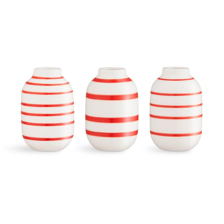 Omaggio Vase Miniatur H 8 cm von Kähler Design in scarlet (3er-Set)