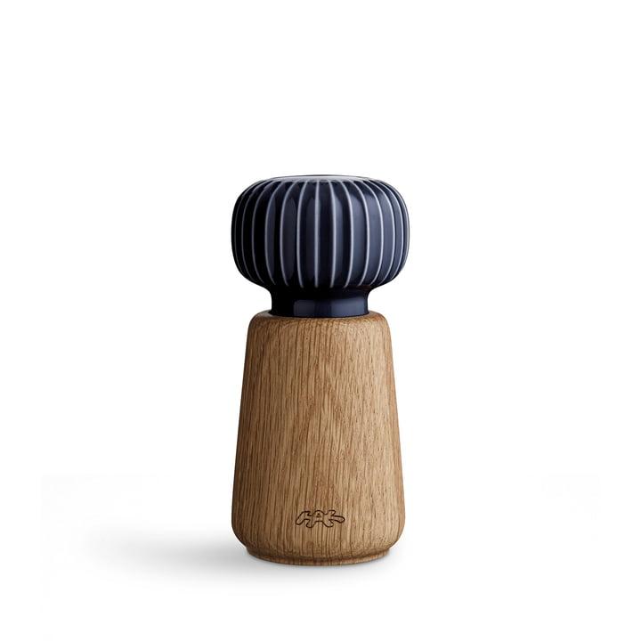 Hammershøi Salz- und Pfeffermühle klein von Kähler Design in indigo