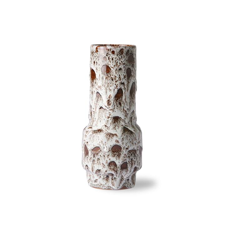 Die Retro Keramikvase von HKliving, lava weiß