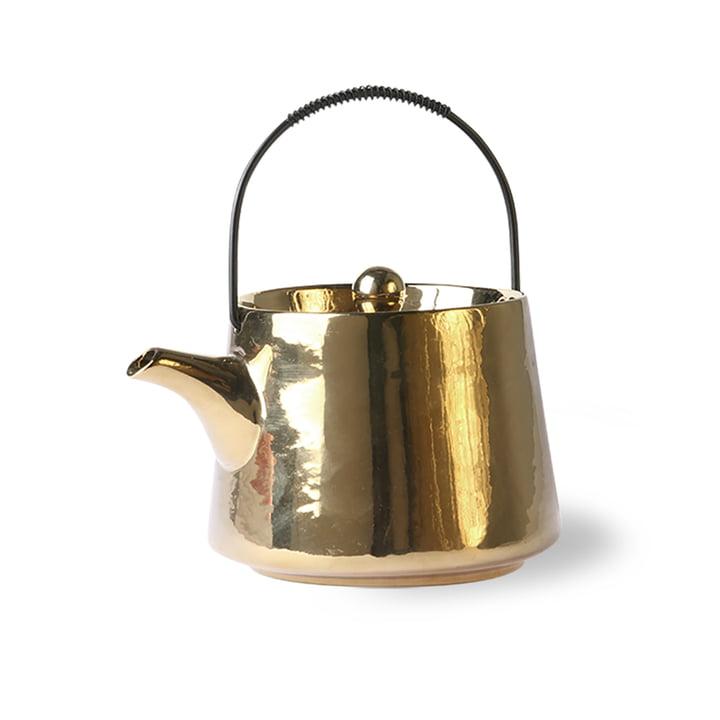 Die Bold & Basic Keramik Teekanne von HKliving, 0.7 l, gold