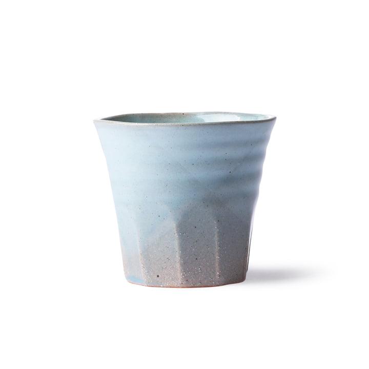 Die Bold & Basic Keramik Becher von HKliving, blau / grau