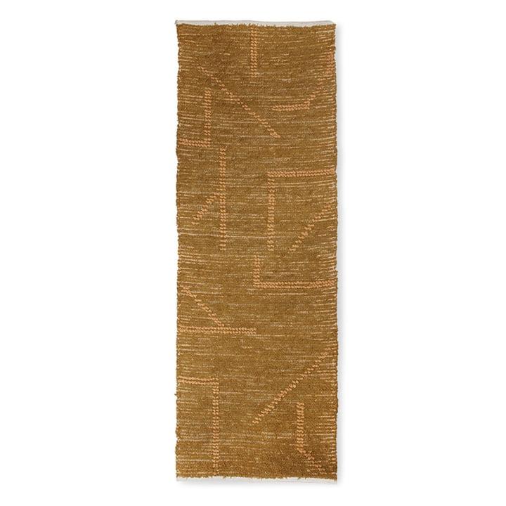 Der Handgewebter Teppich Baumwolle von HKliving, 70 x 200 cm, mustard / honey