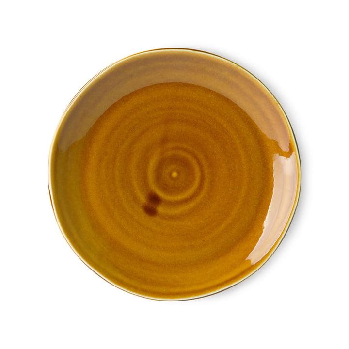 Der Kyoto Teller von HKliving, Ø 25,5 cm, braun