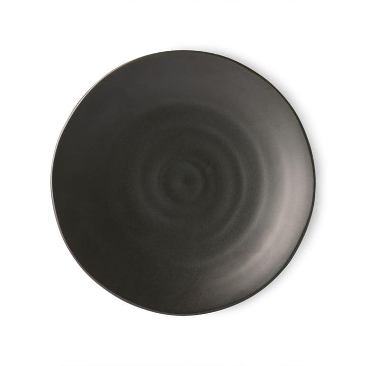 Der Kyoto Teller von HKliving, Ø 25,5 cm, matt schwarz