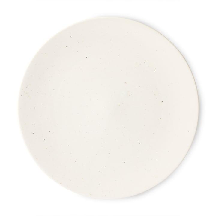 Der Kyoto Teller von HKliving, Ø 27,5 cm, weiß gesprenkelt