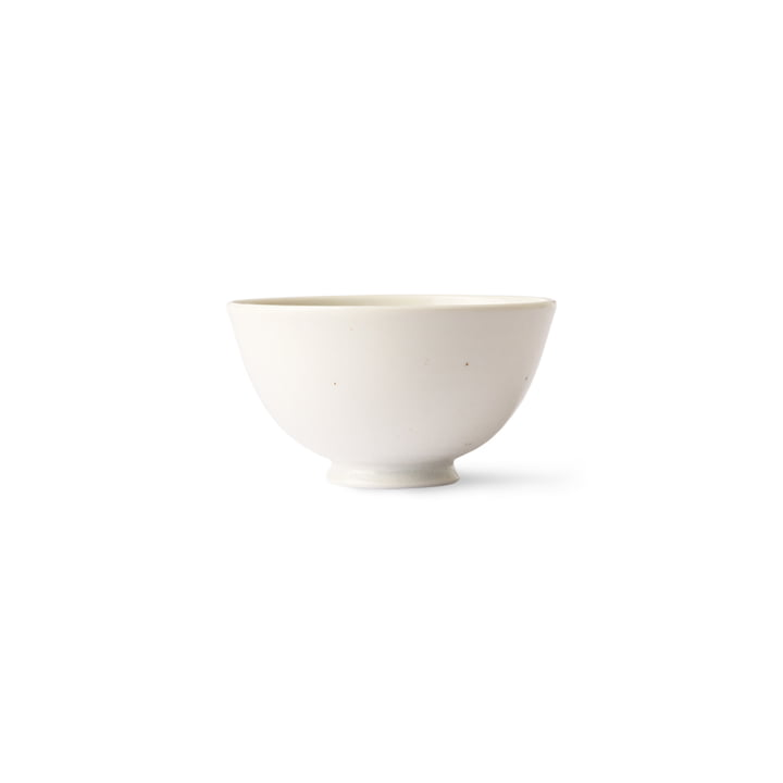 HKliving - Kyoto Schale Reis, Ø 11,3 cm, weiß gesprenkelt
