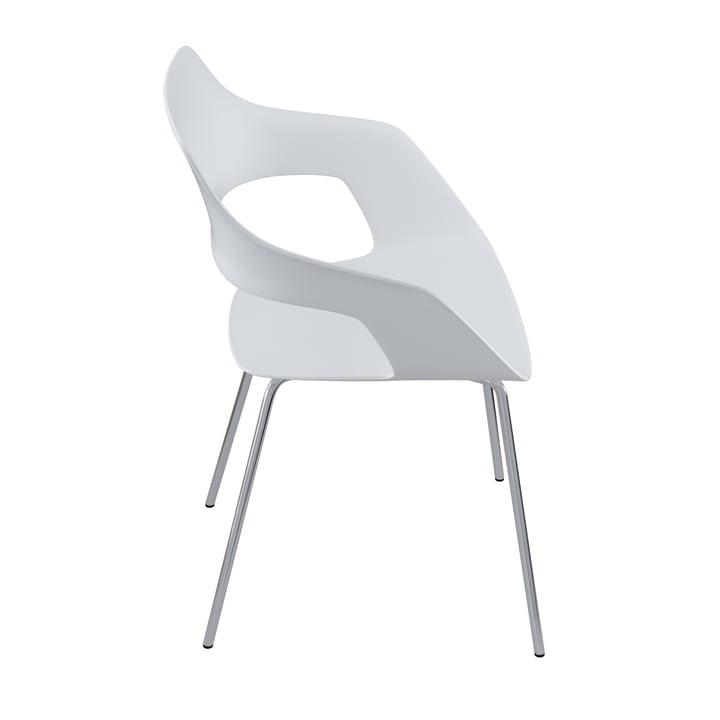Der Occo 222/10 Stuhl von Wilkhahn, Chrom / weiß