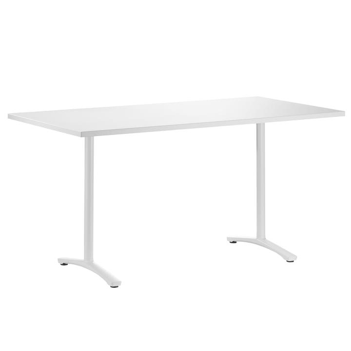 Der Aline Schreibtisch von Wilkhahn, weiß