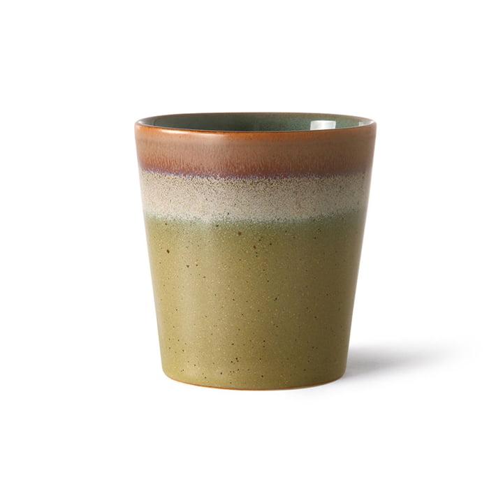 Der 70's Kaffeebecher von HKliving, peat