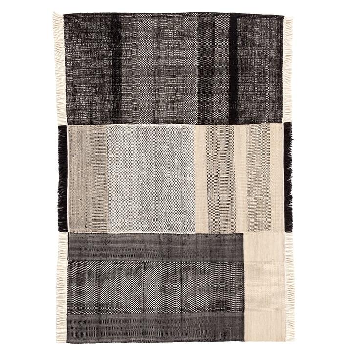 Tres Outdoor-Teppich, 200 x 300 cm, schwarz von nanimarquina