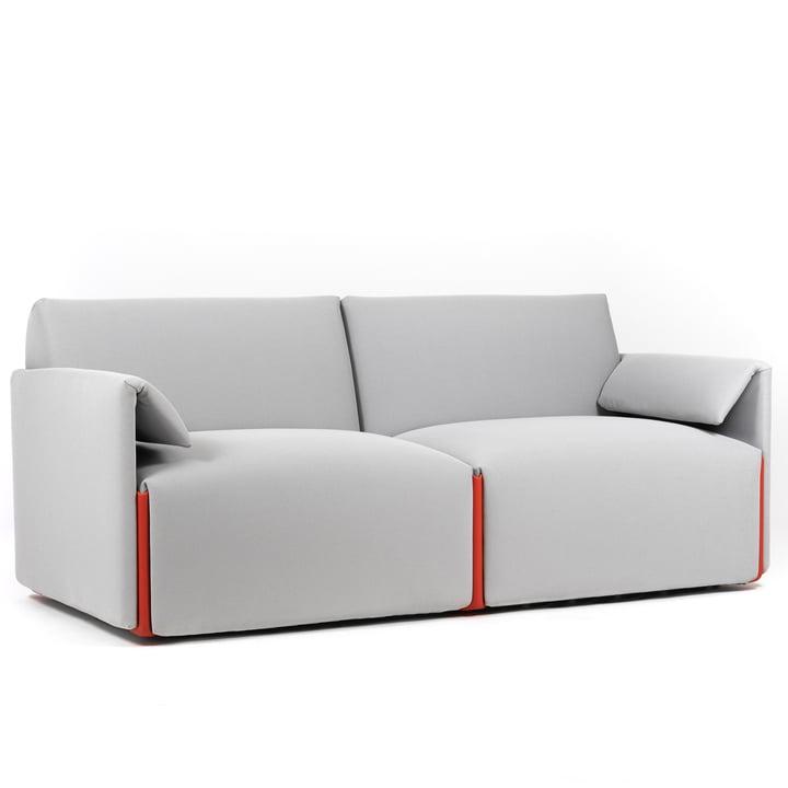 Costume Sofa 2-Sitzer, Komposition B mit Armlehnen, Fidivi One 8504 / orange 1110C von Magis