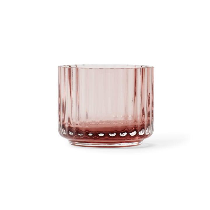 Teelichthalter Ø 6,7 cm von Lyngby Porcelæn in burgundy