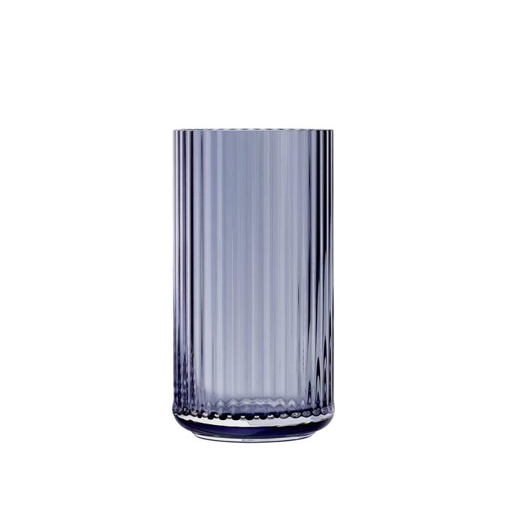 Glasvase H 15,5 cm von Lyngby Porcelæn in midnight blue