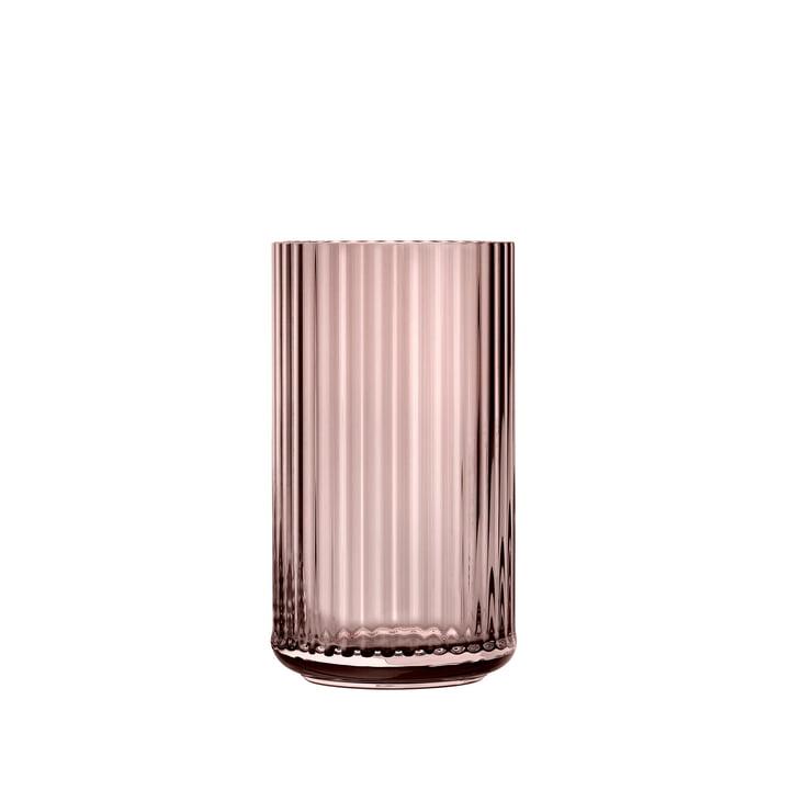 Glasvase H 12,5 cm von Lyngby Porcelæn in burgundy