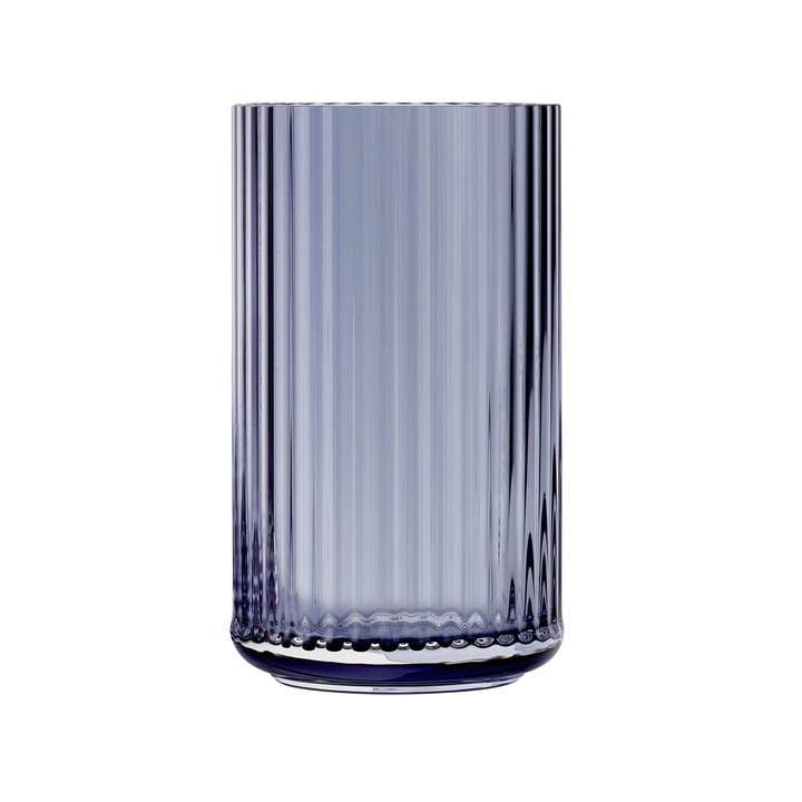 Glasvase H 25 cm von Lyngby Porcelæn in midnight blue