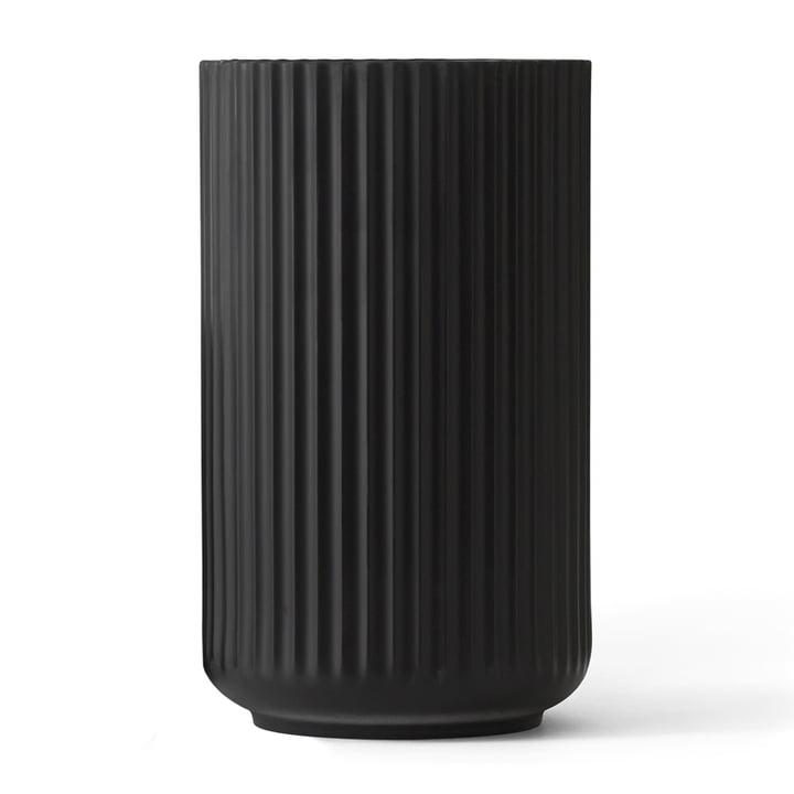 Lyngbyvase H 31 cm von Lyngby Porcelæn in schwarz