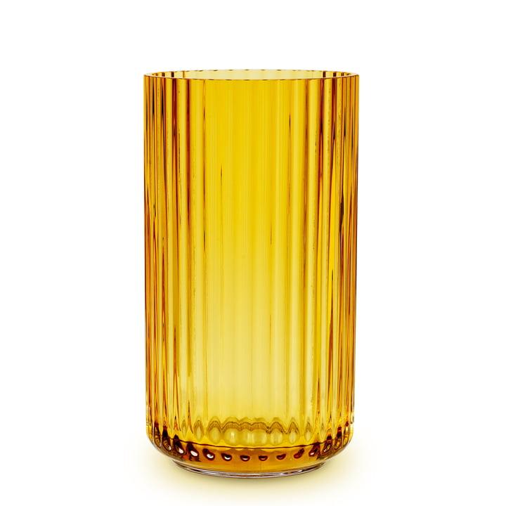 Glasvase H 31 cm von Lyngby Porcelæn in amber