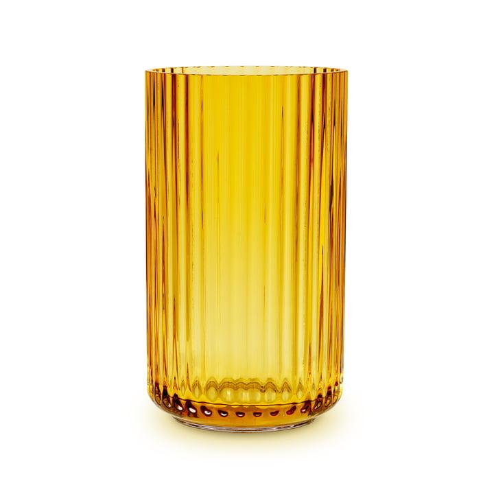 Glasvase H 25 cm von Lyngby Porcelæn in amber