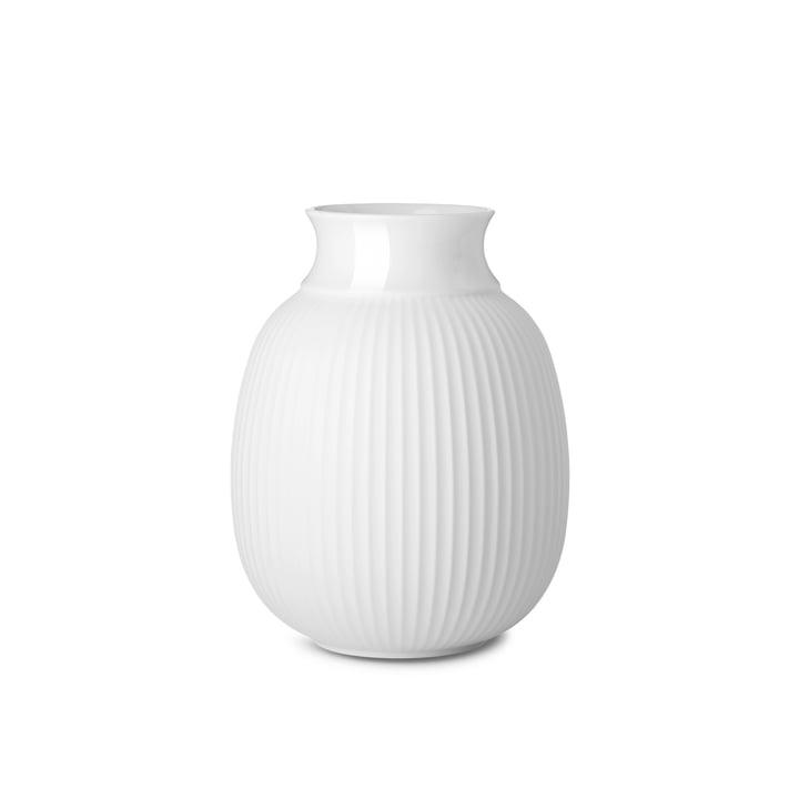 Curve Vase H 12,5 cm von Lyngby Porcelæn in weiß