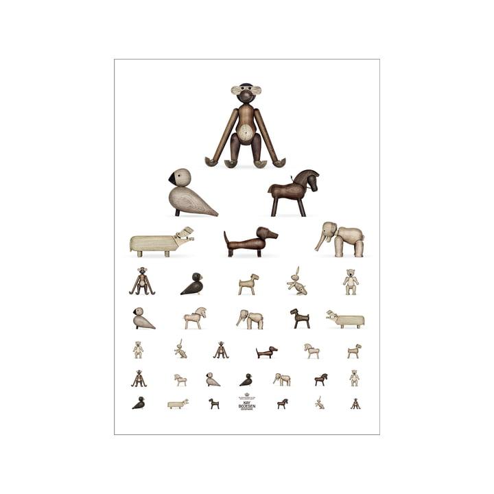 Sehtest Poster, 30 x 40 cm, braun / weiß von Kay Bojesen