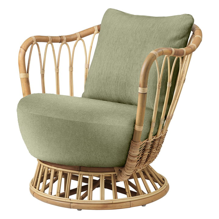 Grace Lounge Sessel von Gubi in grün (Bel Lino Alessandro Bini G077/19)
