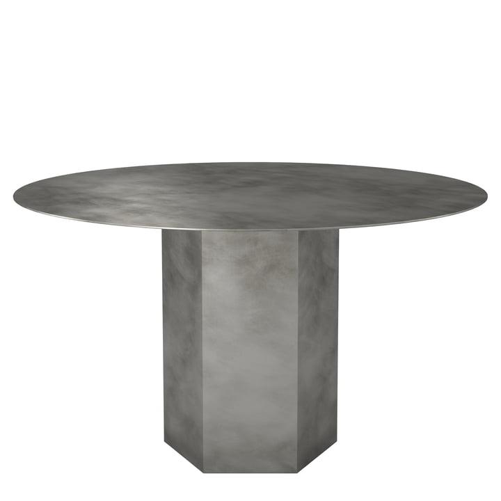 Epic Esstisch Ø 130 cm von Gubi in misty gray / Stahl
