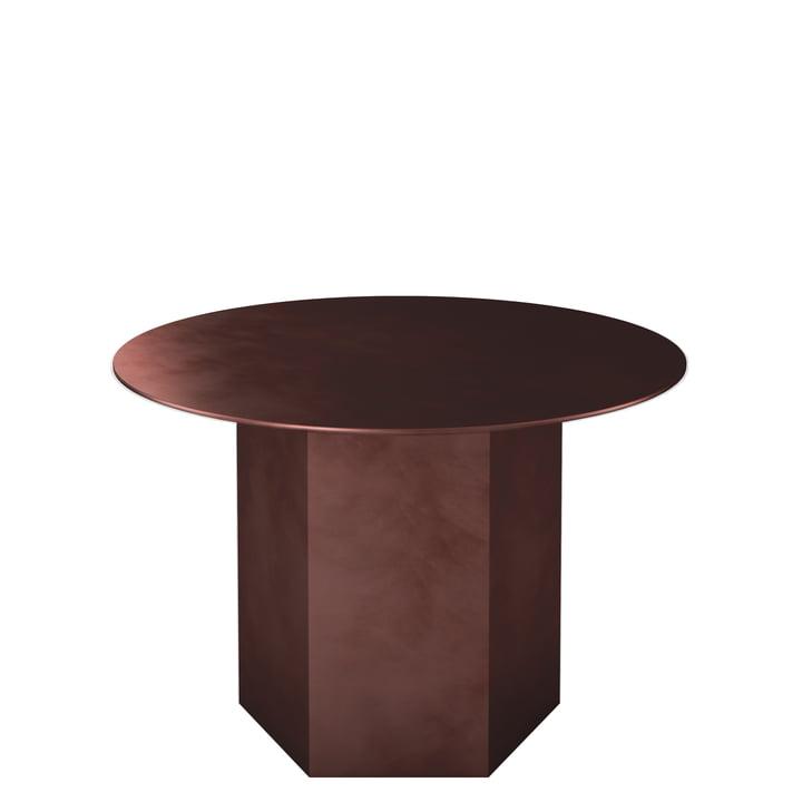 Epic Couchtisch Ø 60 cm von Gubi in earthy red / Stahl