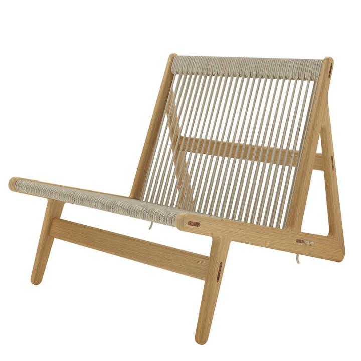 MR01 Lounge Stuhl von Gubi in Eiche / Naturgeflecht