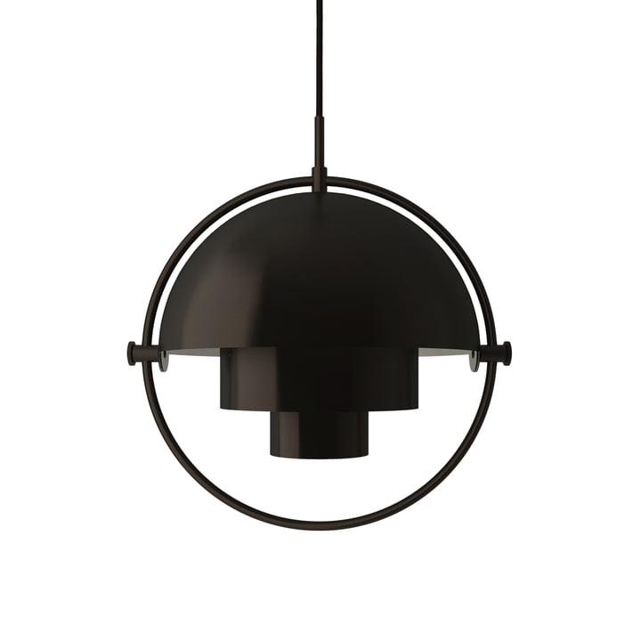 Multi-Lite Pendelleuchte S Ø 22,5 cm von Gubi in Messing / schwarz